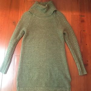 A New Day Hunter Green Cowlneck Sweater Dress